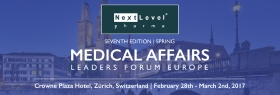 "This 3-day forum is the ""must attend"" event for those senior decision-makers looking to drive their medical affairs teams and departments and enhance their KOL & stakeholder engagement at all levels. <br/><br/>Let's meet in Zürich on February 28, 2017 - March 2, 2017"