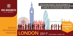 Save the date and join us in London on 3rd October 2017!<br/>BOS 2017 will feature 2 Parallel tracks:<br/>- Discovery & Early Development Outsourcing<br/>- Clinical Operations Outsourcing