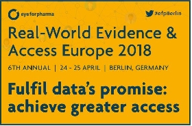 Join us on 24-25th April,  2018 in Berlin where data empowers pharma, payers and key stakeholders toward a shared purpose – Europe's only home for RWE, data and access leaders.
